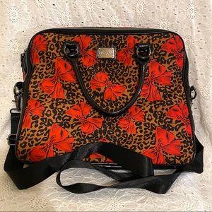 Betseyville animal print & bows laptop bag.